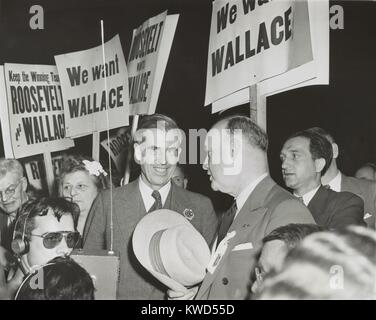 Vice-President Henry Wallace at the Democratic National Convention in Chicago, July 20, 1944. While he was FDR's - Stock Photo