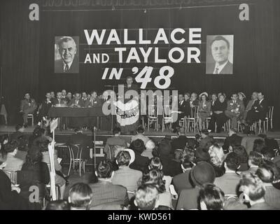 Henry Wallace for President rally New York City, April 3, 1948. The Progressive Party Candidate threatened to draw - Stock Photo