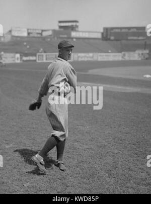 Ray Chapman, of the Cleveland Indians in 1919. On August 17, 1920 he became the first player killed during a major - Stock Photo