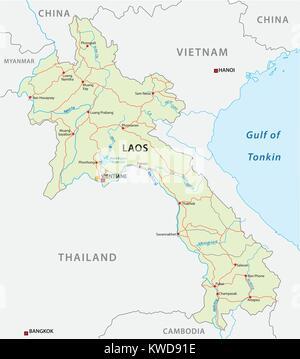 Vector Road Map Of The Democratic Republic Of TimorLeste Stock - East timor seetimor leste map vector