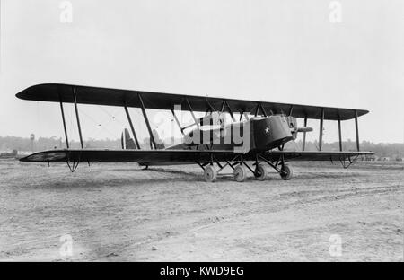British Handley Page transport bi-plane refitted for U.S. Air Mail Service in 1921. It was an early biplane bomber - Stock Photo
