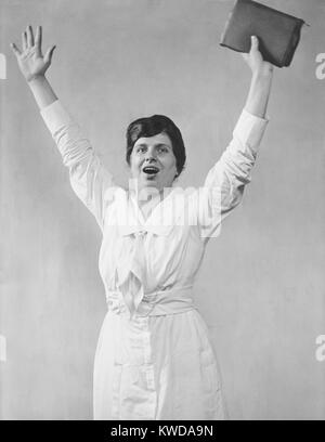 Aimee Semple McPherson, ca. 1920, was a Canadian-American, celebrity evangelist. The Pentecostal 'Sister Aimee' - Stock Photo