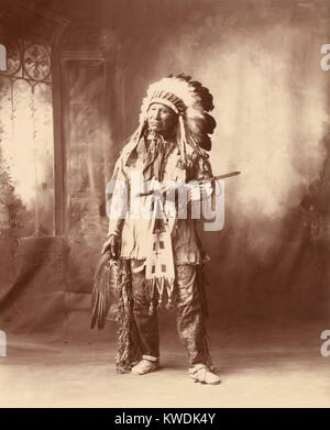 Chief American Horse, Oglala division of Lakota, a progressive Native American. He was a Scout for the US Army, - Stock Photo