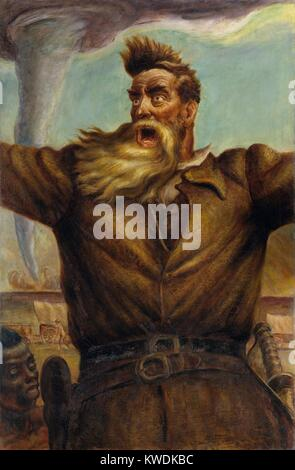 JOHN BROWN, by John Steuart Curry, 1939, American painting, oil on canvas. Curry depicted abolitionist Brown with - Stock Photo