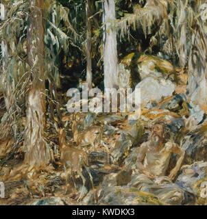 THE HERMIT (IL SOLITARIO), by John Singer Sargent, 1908, American painting, oil on canvas. This works subtitle, - Stock Photo