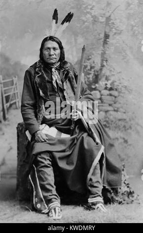 Chief Big Road, Oglala division of Lakota, was a traditionalist who joined the Ghost Dance movement. In 1876 Big - Stock Photo