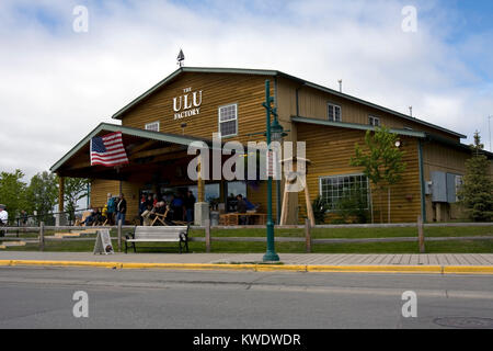 Ulu knife factory and shop, tourist attraction in Anchorage, Alaska - Stock Photo