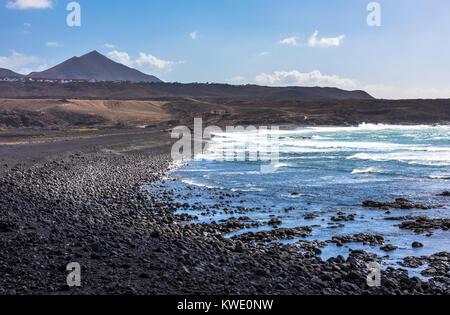 Janubio beach in Lanzarote, Canary Islands, Spain - Stock Photo