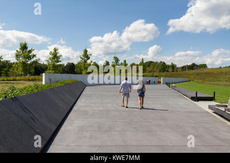 The Wall of Names at the Flight 93 National Memorial site near Shanksville, Pennsylvania, USA. - Stock Photo