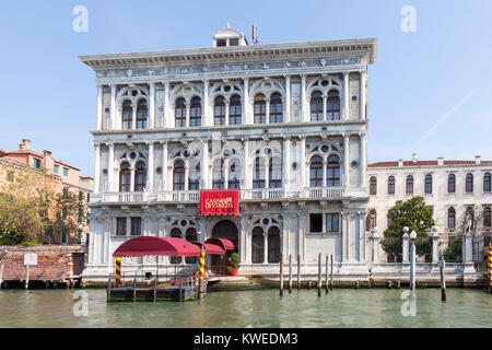 Casino di Venezia, Cannaregio, Grand Canal, Venice, Italy reputedly the oldest casino dating from 1638  in Ca Vendramin - Stock Photo