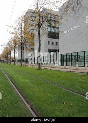 The Hague, Netherlands - November 4, 2017: Europol head office in the Hague. - Stock Photo