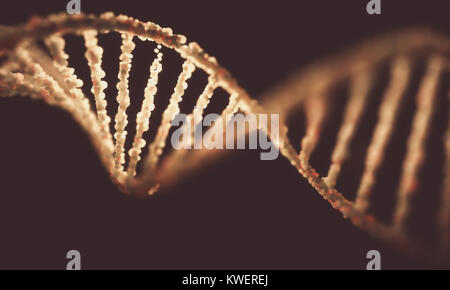 3D illustration. Colorful DNA molecule. Concept image of a structure of the genetic code. - Stock Photo