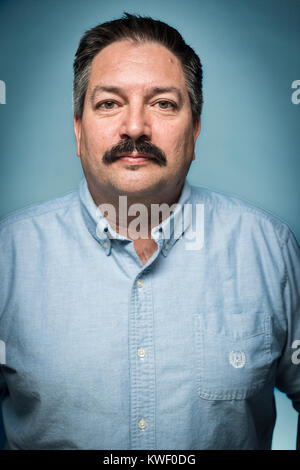 Randy Bryce, democratic candidate for Wisconsin's 1st Congressional District. He is an iron worker, union member, - Stock Photo