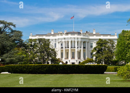 The White House is the official residence and workplace of the President of the United States. It is located at - Stock Photo