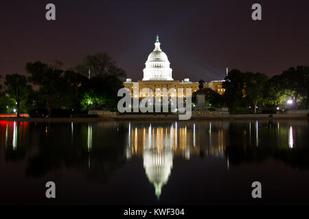 United States Capitol Building, Washington DC, is the home of the US Congress, and the seat of the legislative branch - Stock Photo