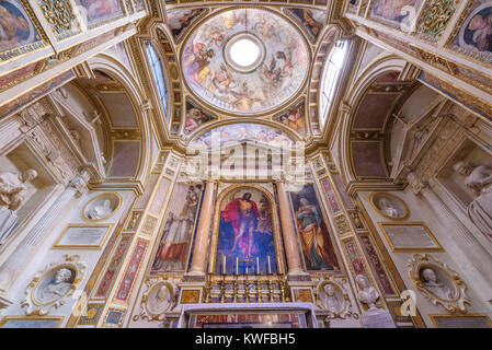 Interior of  Santa Maria Sopra Minerva, Rome, Lazio, Italy - Stock Photo