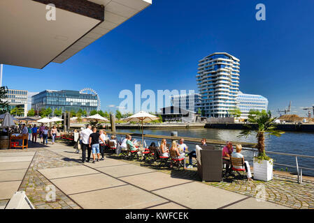 Grasbrookhafen and quay Dalmann in the harbour city of Hamburg, Germany, Europe, Grasbrookhafen und Dalmannkai in - Stock Photo
