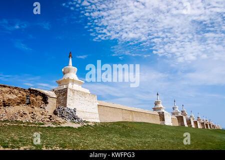 Kharhorin, Central Mongolia - July 26, 2010: Erdene Zuu Monastery, Ovorkhangai Province. One of largest remaining - Stock Photo