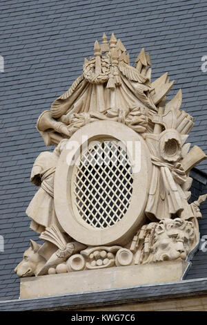 Vent in roof of Les Invalides, Paris, France - Stock Photo