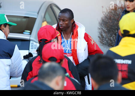 Kanagawa, Japan. 2nd Jan, 2018. Dominic Nyairo () Athletics : The 94rd Hakone Ekiden, Tokyo-Hakone Round-Trip College - Stock Photo