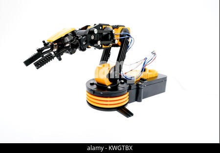 Plastic robot arm model - Stock Photo