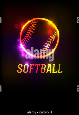 Softball Icon Stock Vector Art Amp Illustration Vector