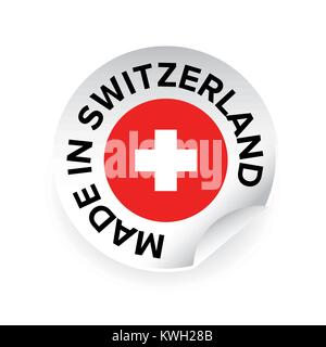 Made in Switzerland label tag - Stock Photo