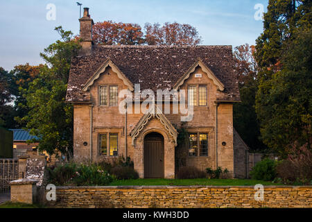English Country Cottage - Stock Photo