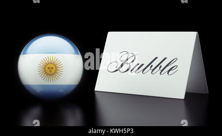 Argentina High Resolution Bubble Concept - Stock Photo