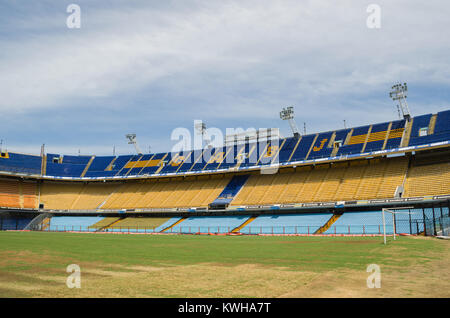 Buenos Aires  , Argentina, December 28 - 2015: La Bombonera Football Stadium (Alberto José Armando Stadium), Boca - Stock Photo