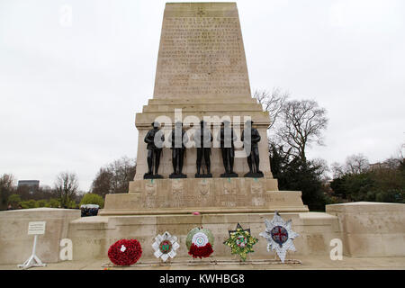 The Guards Division War Memorial at St James's Park in London, England. The cenotaph style memorial was designed - Stock Photo