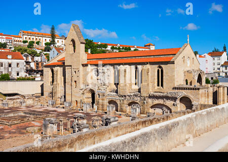 The ruins of the Monastery of Santa Clara a Velha (St Clare the Older) are located in the city of Coimbra, in Portugal - Stock Photo