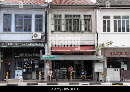 Geylang Road in Singapore - Stock Photo