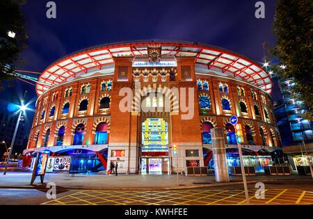 Barcelona, Spain - October 26, 2015: Arenas Barcelona Shopping Mall - Stock Photo