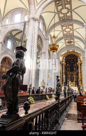 Interior view of Mexico City Metropolitan Cathedral - Stock Photo