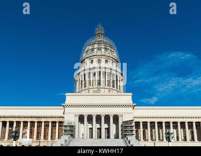 Havana, Cuba - June 27, 2017: Architecture front view  from the Capitolio in Havana City Cuba - Serie Cuba Reportage - Stock Photo