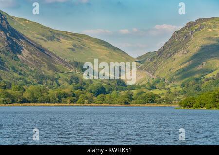 The north east shore of Tal-y-Llyn in South Snowdonia, Gwynedd, Wales, UK
