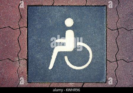 Parking space for the disabled, impediment, Behindertenparkplatz, Behinderung - Stock Photo