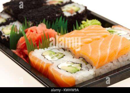 Japanese sushi rolls. - Stock Photo
