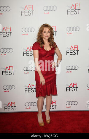 HOLLYWOOD, CA - NOVEMBER 03:   Lea Thompson attends AFI Fest 2011 Opening Night Gala World Premiere Of 'J. Edgar'at - Stock Photo