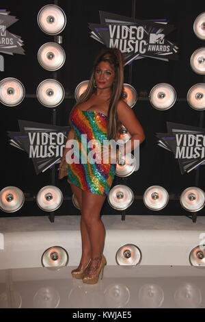 LOS ANGELES, CA - AUGUST 28:  Deena Nicole Cortese  arrives at the 2011 MTV Video Music Awards at Nokia Theatre - Stock Photo