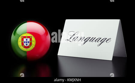 Portugal High Resolution Language Concept - Stock Photo