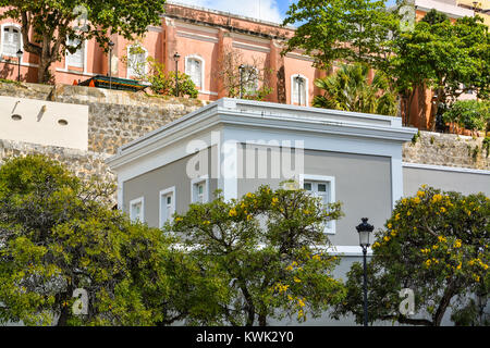 Old San Juan, Puerto Rico, Walking Tour - Stock Photo