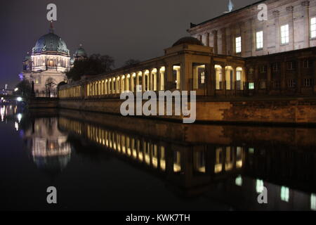 Berlin's Museum island, with the Cathedral in the background - Stock Photo