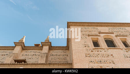 The Palace of Charles V inside the Nasrid fortification of the Alhambra, Granada, Spain - Stock Photo