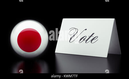 Japan High Resolution Vote Concept - Stock Photo