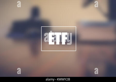 ETF, exchange traded fund, business and technology concept.jpg - Stock Photo