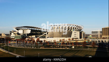 Ohio Cincinnati Paul Brown Stadium Parking Lot Stock Photo