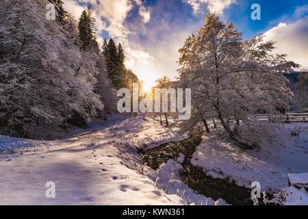 beautiful idyllic winter landscape - Stock Photo