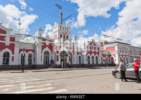 Vologda, Russia - June 20, 2017: Railway station in the city of Vologda - Stock Photo